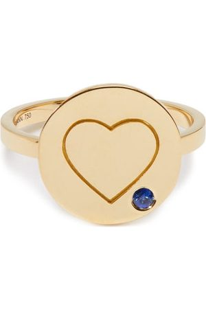 Aurélie Bidermann Heart Sapphire & Yellow-gold Ring - Womens - Yellow Gold