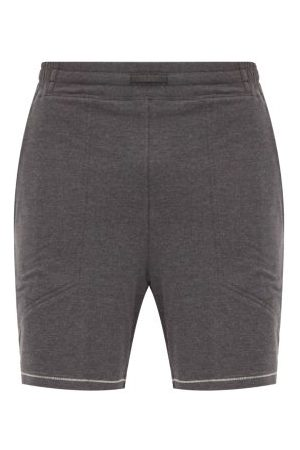 Lahgo Restore Cotton-blend Pyjama Shorts - Mens - Dark Grey