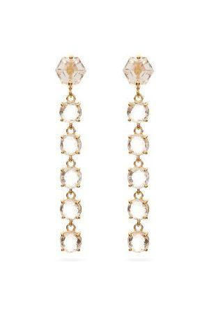 Suzanne Kalan Dames Oorbellen - Topaz & 14kt Gold Drop Earrings - Womens - Yellow Gold