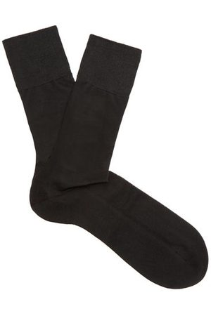 Falke N°4 Silk Socks - Mens - Black
