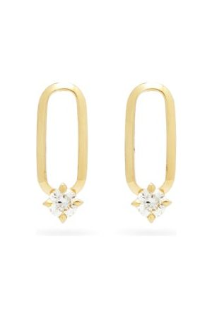 Lizzie Mandler Knife Edge Diamond & 18kt Gold Earrings - Womens - Yellow Gold