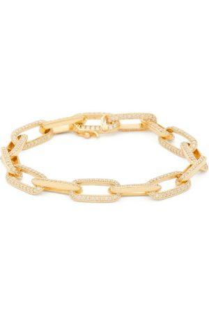 Lizzie Mandler Knife Edge Diamond & 18kt Gold Chain Bracelet - Womens - Yellow Gold