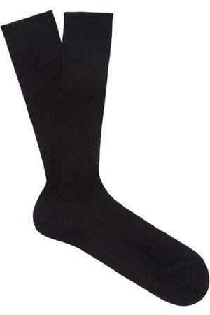 Raey Heren Sokken & Kousen - Set Of Three Silk Socks - Mens - Black