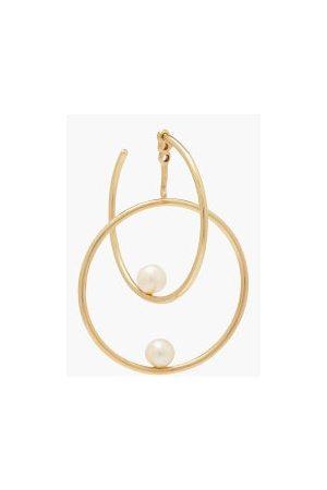 Anissa Kermiche Dames Oorbellen - Double Rondeur Perlee 14kt Gold Single Earring - Womens - Gold