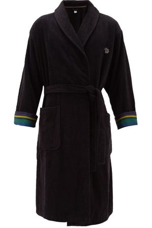 Paul Smith Zebra Terry-cloth Cotton Towel Robe - Mens - Black