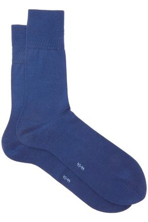 Falke Tiago City Cotton-blend Socks - Mens - Dark Blue