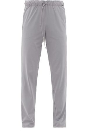 Hanro Night & Day Cotton-jersey Pyjama Trousers - Mens - Dark Grey