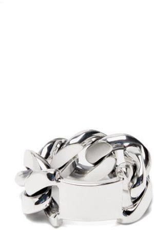 Bottega Veneta Dames Ringen - Curb-link Silver Ring - Womens - Silver