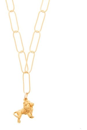 Alighieri Dames Kettingen - Baby Lion In The Night 24kt Gold-plated Necklace - Womens - Yellow Gold