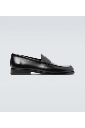 Rochas Leather penny loafers