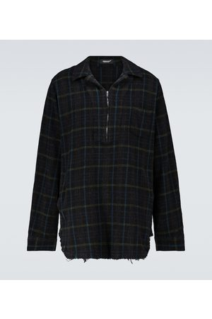 UNDERCOVER Half-zipped checked wool overshirt