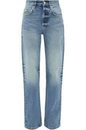 Raey Dames Baggy & Boyfriend - Open Unisex Faded Wide-leg Jeans - Womens - Light Blue