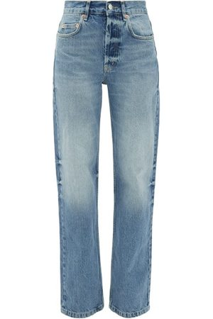 Raey Open Unisex Faded Wide-leg Jeans - Womens - Light Blue