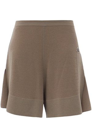 Moncler + Rick Owens Sisy High-rise Knitted Shorts - Womens - Brown