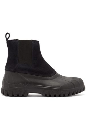 Diemme Balbi Suede And Rubber Chelsea Boots - Mens - Black
