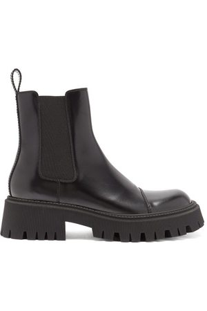 Balenciaga Tractor Trek-sole Leather Chelsea Boots - Mens - Black