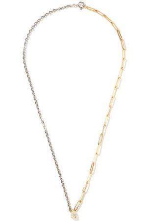 Yvonne Léon Diamond, 18kt Gold & Sterling-silver Necklace - Womens - Silver Gold