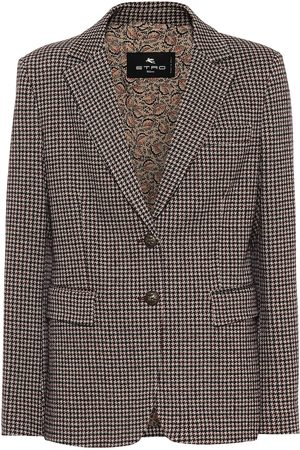 Etro Houndstooth cotton and wool blazer