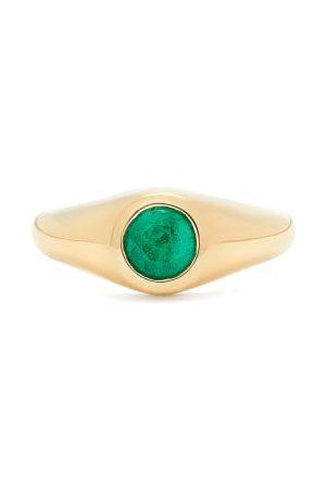 Lizzie Mandler Emerald & 18kt Gold Signet Ring - Womens - Green Gold