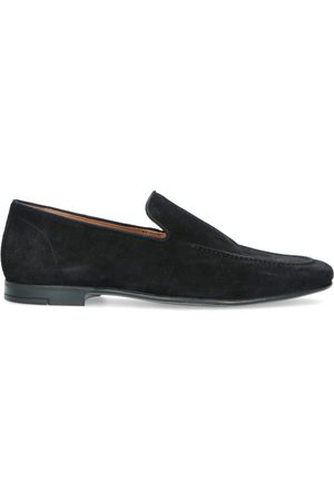 Manfield Heren Loafers - Zwarte suède loafers