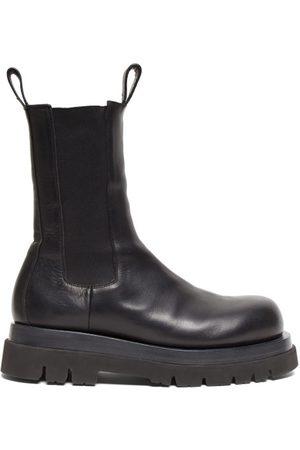 Bottega Veneta Tread-sole Leather Boots - Mens - Black