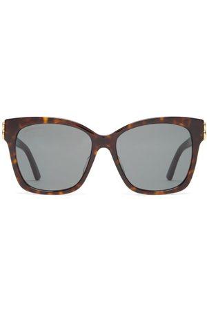Balenciaga Square Tortoiseshell-acetate Sunglasses - Womens - Tortoiseshell