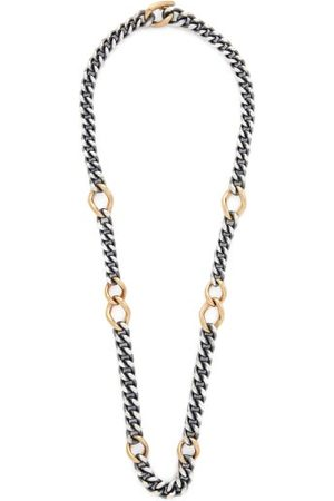 Hum Dames Kettingen - Sterling-silver & 18kt Gold Necklace - Womens - Silver Gold