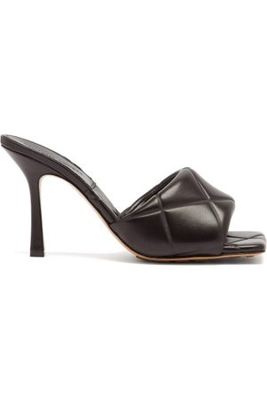 Bottega Veneta Bv Lido Intrecciato Quilted-leather Mules - Womens - Black