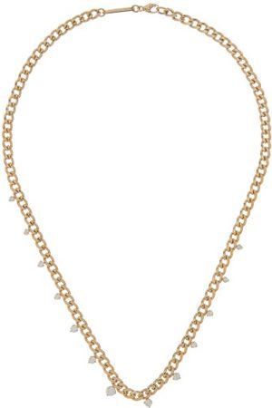 Zoe Chicco Graduating Diamond & 14kt Gold Curb-chain Necklace - Womens - Gold