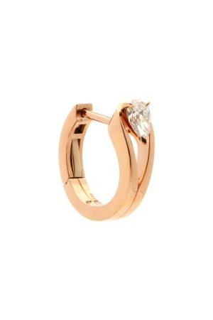 Repossi Dames Oorbellen - Serti Inversé Diamond & 18kt Gold Single Earring - Womens - Rose Gold