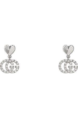 Gucci GG Running 18k earrings with diamonds