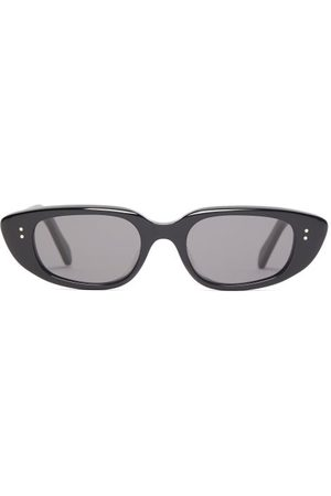 Céline Dames Zonnebrillen - Oval Acetate Sunglasses - Womens - Black