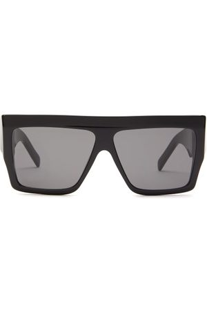 Céline Flat-top Acetate Sunglasses - Womens - Black