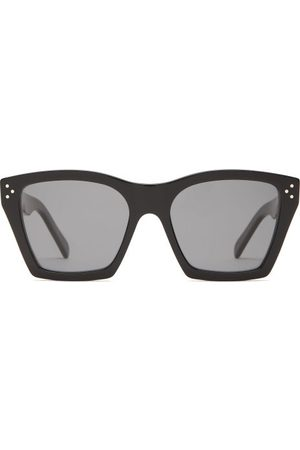 Celine Eyewear Square-frame Acetate Sunglasses - Womens - Black