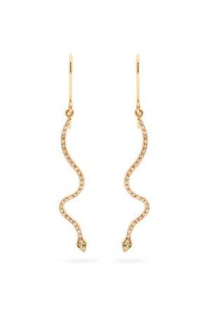 Ileana Makri Lucky Snake Diamond & 18kt Rose-gold Earrings - Womens - Rose Gold