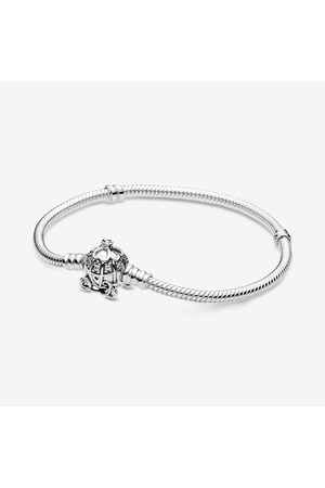 PANDORA Dames Armbanden - Disney Cinderella Pumpkin Coach Clasp Moments Bracelet, Sieraden uit Sterling zilver, Cubic Zirconia, , 599190C01-16