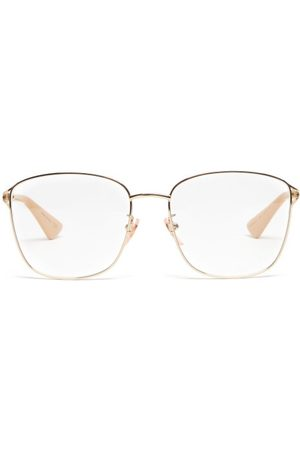 Gucci Dames Zonnebrillen - Square Metal Glasses - Womens - Gold