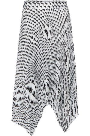 Marine Serre Printed pleated midi skirt