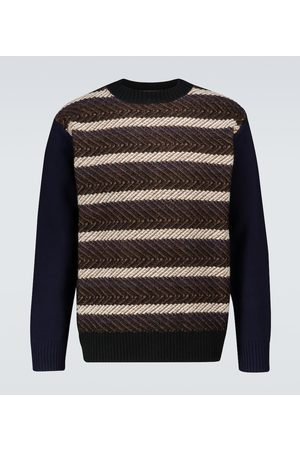 JUNYA WATANABE Striped wool crewneck sweater