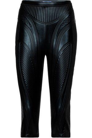 MUGLER Embossed scuba biker shorts