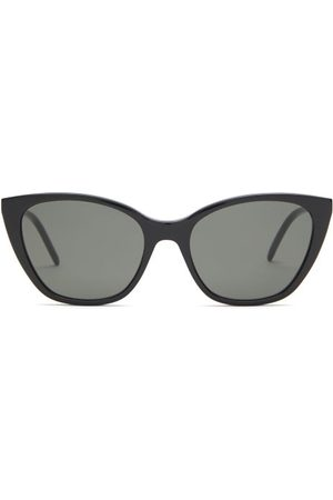Saint Laurent Cat-eye Acetate Sunglasses - Womens - Black