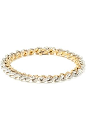 Shay Diamond & 18kt Gold Chain-link Bracelet - Womens - Silver Gold