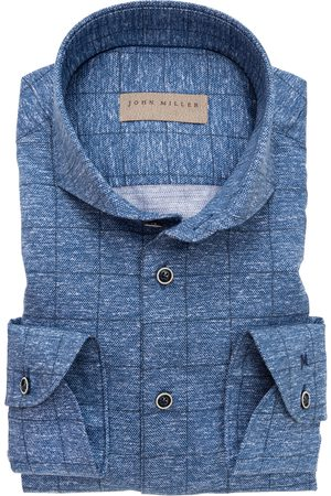john miller Overhemd blauw melange Tailored Fit