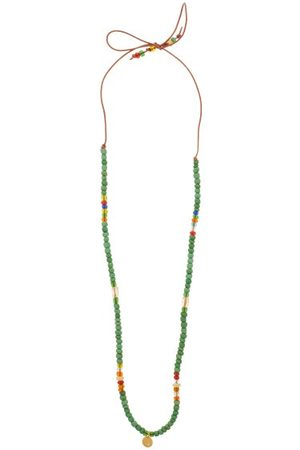 Musa by Bobbie Diamond, Citrine, Opal & 14kt Gold Charm Necklace - Womens - Green