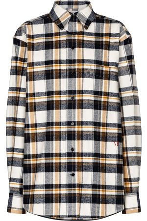 Victoria Beckham Checked cotton flannel shirt