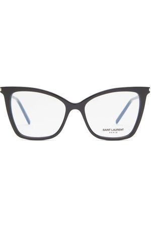 Saint Laurent Cat-eye Acetate Glasses - Womens - Black