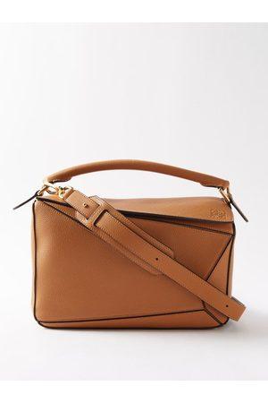 Loewe Dames Schoudertassen - Puzzle Leather Cross-body Bag - Womens - Tan