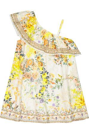 Camilla One-shoulder floral cotton dress