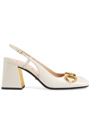 Gucci Dames Pumps - Women's mid-heel slingback with Horsebit