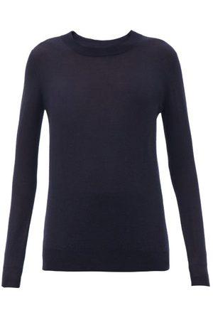 Joseph Cashair Longline Cashmere Sweater - Womens - Navy